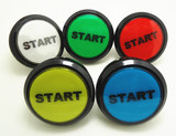2 pcs of START printed flat type 60mm lighted button Illuminated round Push Button with microswitch