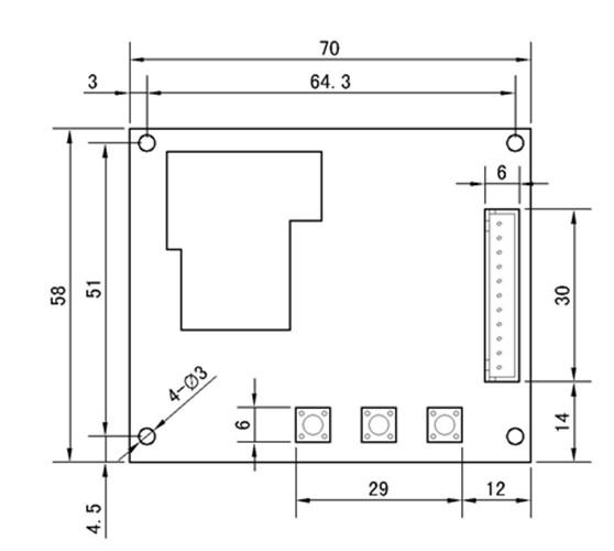 3位数带40公分排线时间计时板 时间控制器